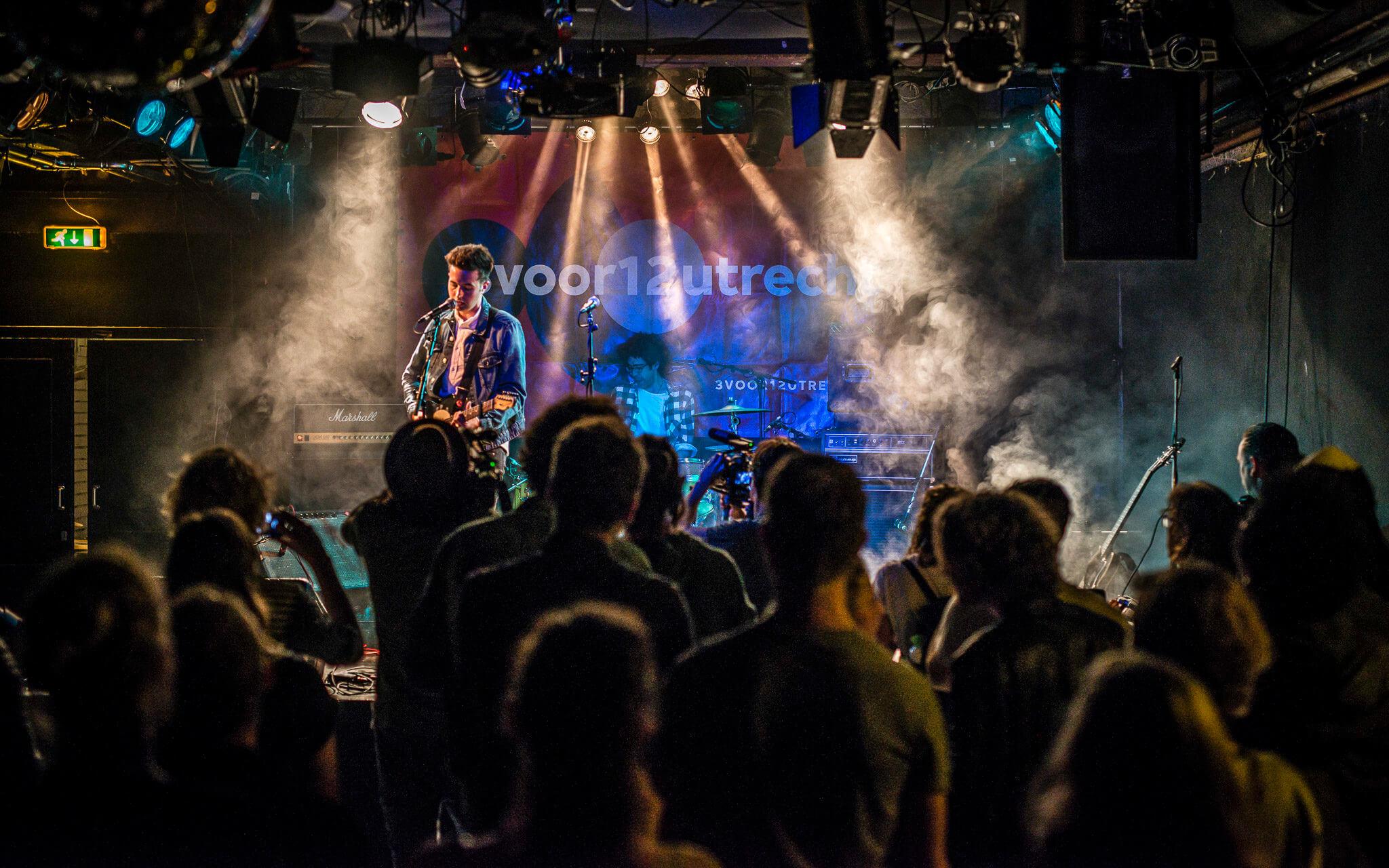 Concert bij db's studio te Utrecht