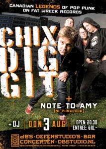 CHIXDIGGIT (CAN) + Note to Amy @ dB's | Utrecht | Utrecht | Netherlands