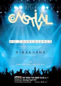 ConstiVal 3met No Consequence, Sümer, Hibakusha en Bjorn-Flarf @ dB's | Utrecht | Utrecht | Netherlands