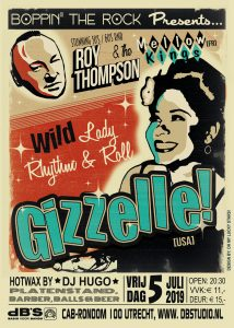 Boppin' the Rock presents GIZZELLE (USA - Wild Records) + Roy Thompson & the Mellow Kings (Fr)