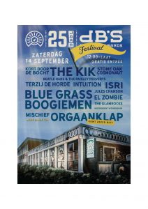 dB's 25-jaar Festival met o.a. Blaudzun (semi-acoustic set), Terzij de Horde, The Kik, The Blue Grass Boogiemen, The Glamrocks, Isri, El Zombie, Mischief! en nog vele anderen