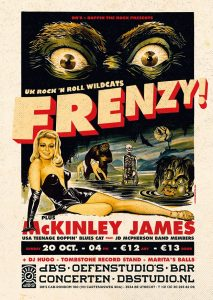 Boppin' the Rock presents FRENZY (UK) + McKInley James (USA)