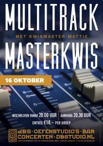 Multitrack Masterkwis met Kwismaster Mattie!