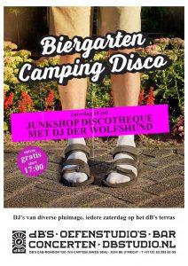 BIERGARTEN CAMPING DISCO met Junkshop Discotheque (aka Barry Stiletto + Kris Coorde)