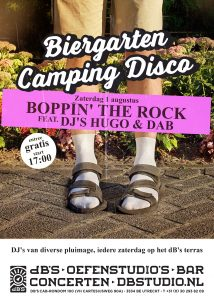 Biergarten Camping Disco > Boppin' the Rock edition met DJ's Hugo & Dab