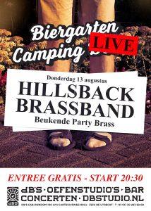 Biergarten Camping LIVE > HILLSBACK BRASSBAND (Beukende Party Blazers)