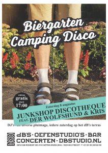 BIERGARTEN CAMPING DISCO > Junk Shop Discotheque met Der Wolfshund & Kris