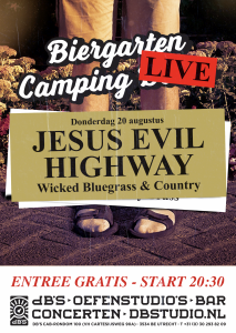 Biergarten Camping LIVE met JESUS EVIL HIGHWAY