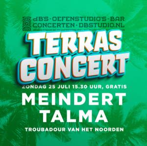 Terrasconcert met Meindert Talma