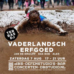 TERRAS DJ'S van het VADERLANDSCH ERFGOED met DAS BOB, JAN DE KRUIJFF & ALEX